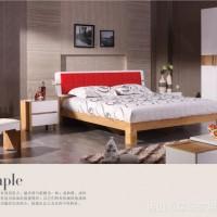【厂价直销】批发时尚亮光家具 彩色印花家具 板式家具大床