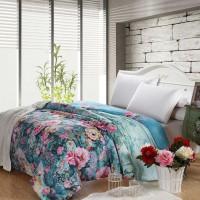 韩莯家居 全棉被套  纯棉被罩 印花 被套 床上用品四件套