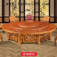 哈尔滨市电动圆形实木餐桌/顺德酒店桌椅制造厂/大理石火锅餐桌/