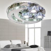 水晶灯客厅灯led现代简约创意大气吸顶灯圆形餐厅灯卧室灯具新款