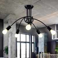 美式复古铁艺吸顶灯 创意工业个性艺术客厅卧室餐厅书房吸顶灯具