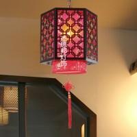 **中式客厅餐厅仿古吊灯 卧室过道走廊木艺羊皮吊灯 玄关阳台茶楼灯具 吸顶灯 灯饰灯具厂家