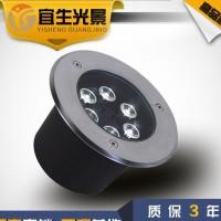 宜生光景 工厂直销圆形LED地埋灯 6W 户外防水大功率埋地灯 底价批发