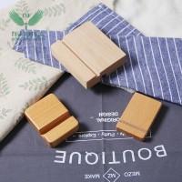 创意礼品台历名信片木制底座 加工定制桌面便签木质支架名片底座