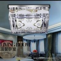 水晶灯led吸顶灯现代简约卧室灯长方形客厅灯饰灯具842