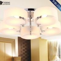 现代简约意大利亚克力吸顶灯客厅卧室餐厅灯具圈圈灯饰一件代发