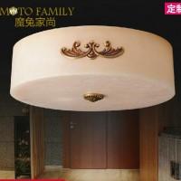 欧式现代餐厅卧室LED灯具, 天然进口云石吸顶灯订做灯饰