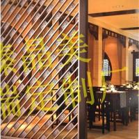 现代中式屏风不锈钢雕花折屏客厅隔断样板房花窗装饰墙金属家具