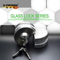 新成达X-318 无框玻璃门锁 双边 球形锁 半圆锁
