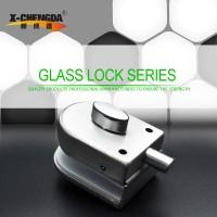 新成达X-083 不锈钢玻璃门锁 带保险 单边 玻璃门插销